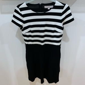 Black and White LOFT Dress Size 4P